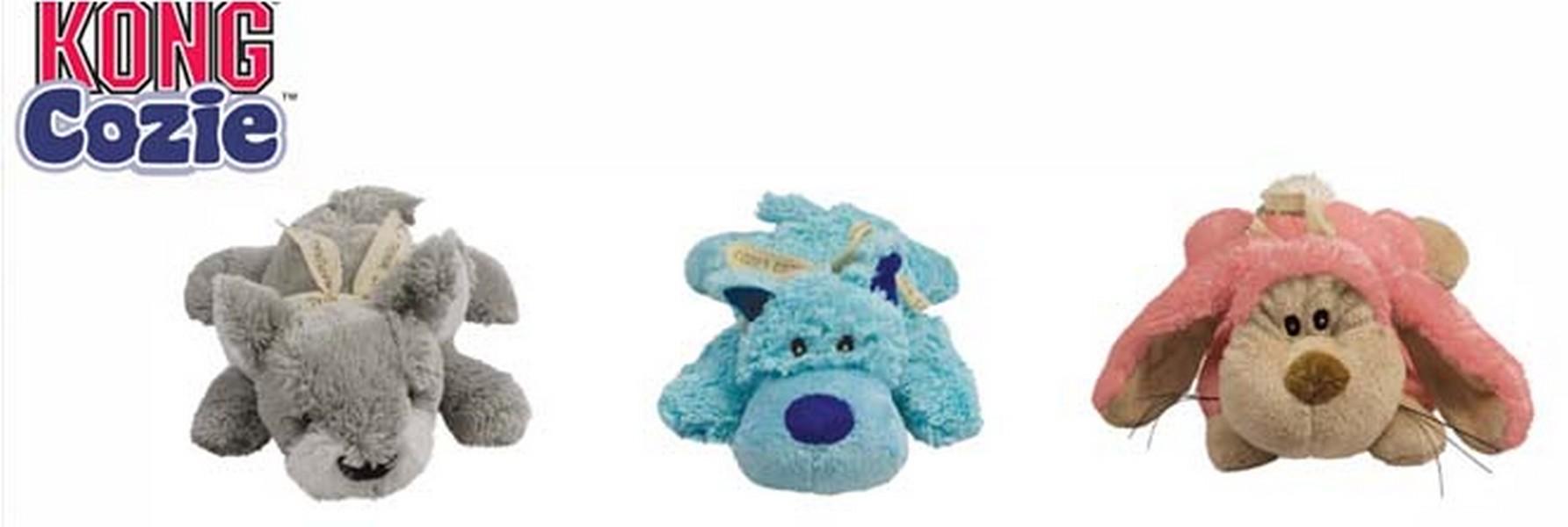 Kong Cozie Pastel / Игрушка Конг для собак Волк Коала Кролик Плюш