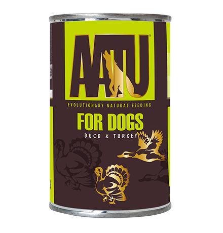 AATU for Dogs Duck & Turkey / Консервы Аату для взрослых собак Утка и Индейка (цена за упаковку)