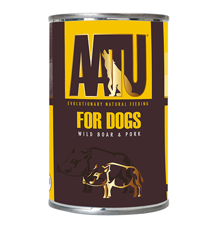 AATU for Dogs Wild Boar & Pork / Консервы Аату для взрослых собак Мясо Дикого кабана и Свинина (цена за упаковку)
