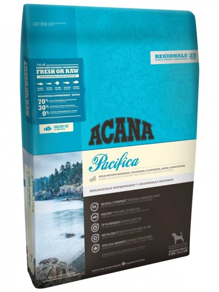 Acana Regionals Pacifica Dog No Grain / Сухой корм Акана для собак Всех пород Беззерновой Гипоаллергенный Рыба
