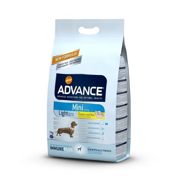 Advance Mini Light / Сухой корм Адванс для собак Мелких пород Контроль веса Курица рис