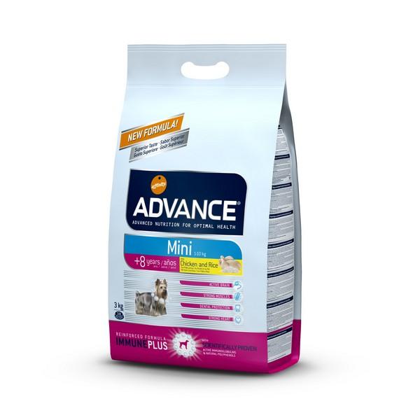 Advance Mini 8+ Senior / Сухой корм Адванс для Пожилых собак Мелких пород старше 8 лет Курица рис