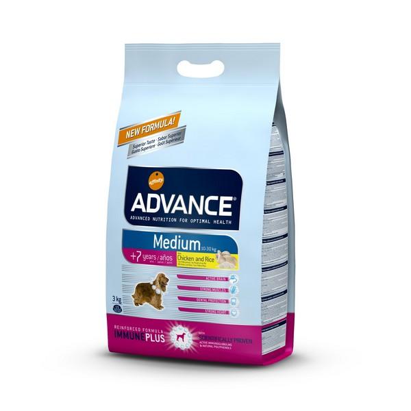 Advance Medium 7+  Senior / Сухой корм Адванс для Пожилых собак Средних пород старше 7 лет Курица рис