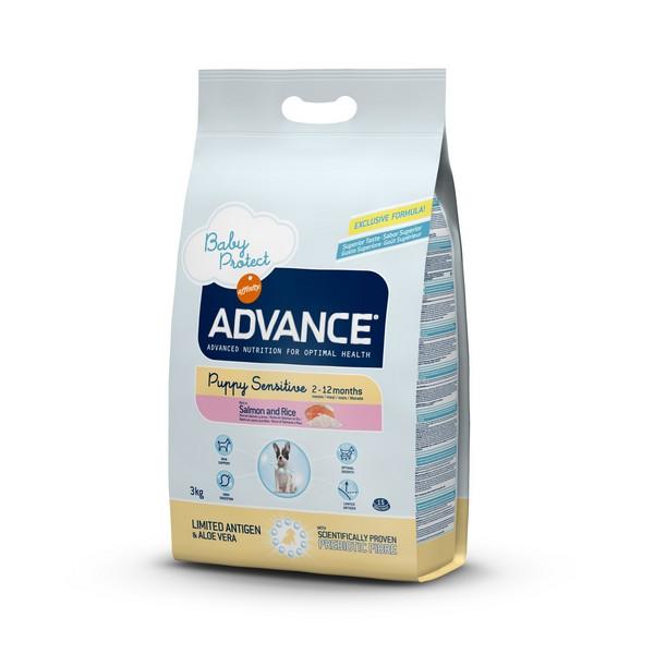 Advance Baby Protect Puppy Sensitive / Сухой корм Адванс для Щенков с Чувствительным пищеварением от 2 до 12 месяцев Лосось рис