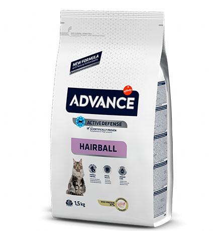 Advance Hairball Turkey and Rice / Сухой корм Адванс для Вывода шерсти у кошек Индейка рис