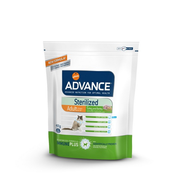 Advance Adult Sterilized Turkey and Barley / Сухой корм Адванс для взрослых Стерилизованных кошек Индейка ячмень
