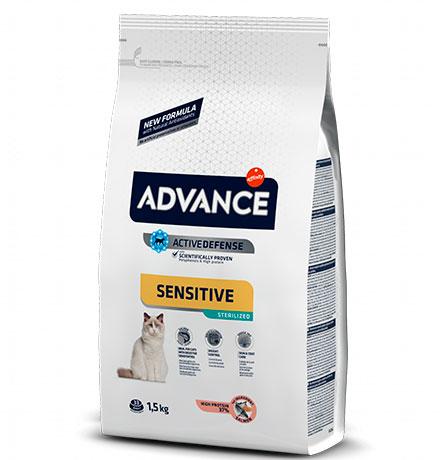 Advance Sterilized Sensitive Salmon & Barley / Сухой корм Адванс для Стерилизованных кошек с Чувствительным пищеварением Лосось ячмень