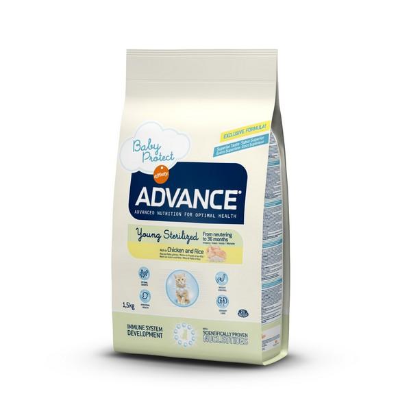Advance Baby Protect Young Sterilized / Сухой корм Адванс для молодых Стерилизованных кошек до 3 лет Курица рис