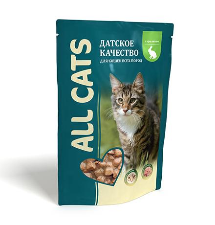 All Cats / Паучи Ол Кэтс для кошек Кролик в соусе (цена за упаковку)