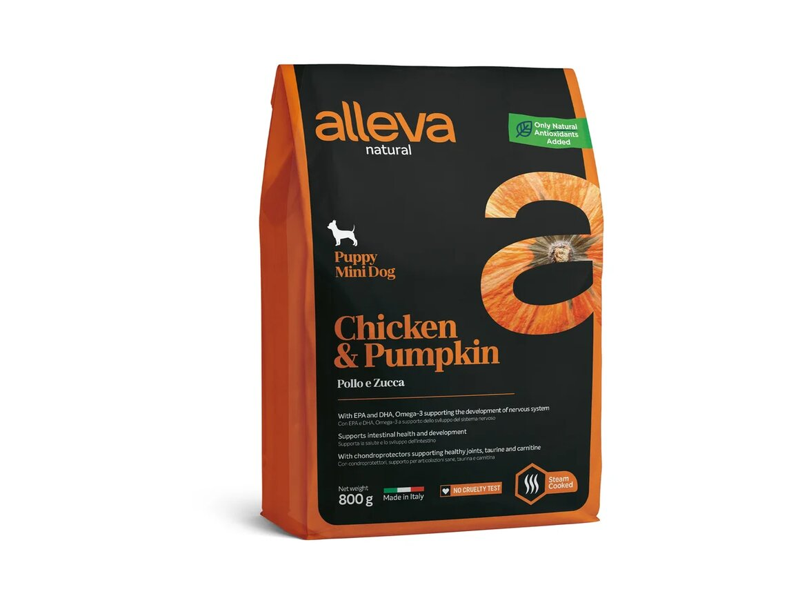 Alleva Natural Puppy Mini Chicken Pumpkin / Сухой корм Аллева для Щенков Мелких пород Курица Тыква