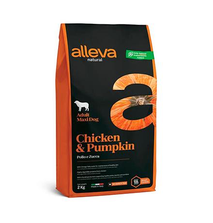 Alleva Natural Adult Maxi Chicken Pumpkin / Сухой корм Аллева для собак Крупных пород Курица Тыква