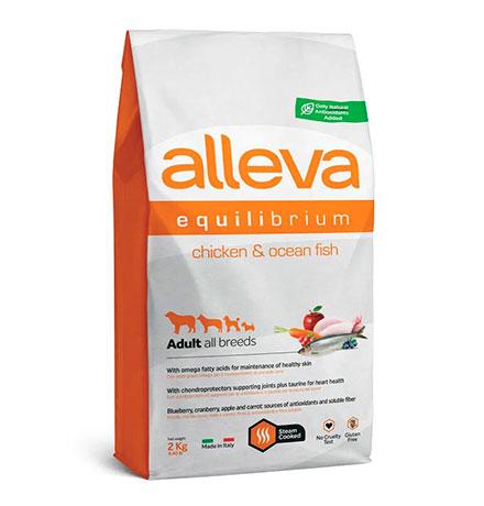 Alleva Equilibrium Adult All Breeds All Day Maintenance Chicken&Ocean Fish / Сухой корм Аллева для взрослых собак Всех пород Курица Океаническая рыба