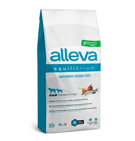 Alleva Equilibrium Adult Medium Maxi Sensitive Ocean Fish / Сухой корм Аллева для собак Средних и Крупных пород Океаническая рыба
