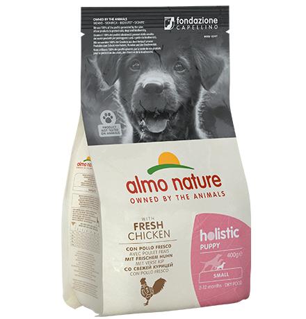 Almo Nature Holistic Puppy Small Chicken / Сухой корм Алмо Натюр Холистик для Щенков Малых пород с Курицей