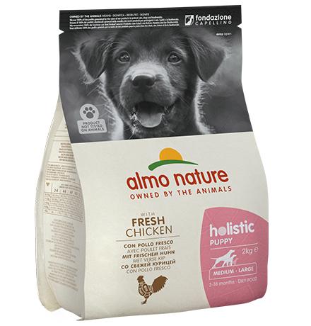Almo Nature Holistic Puppy Medium Chicken / Сухой корм Алмо Натюр Холистик для Щенков Средних пород с Курицей