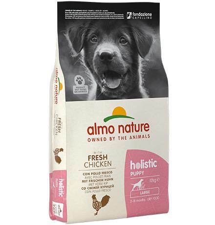 Almo Nature Holistic Puppy Large Chicken / Сухой корм Алмо Натюр Холистик для Щенков Крупных пород с Курицей