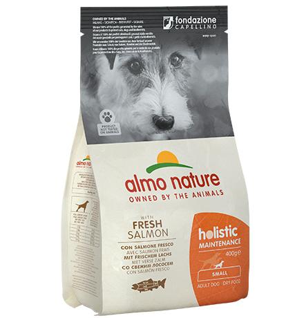 Almo Nature Holistic Small Salmon / Сухой корм Алмо Натюр Холистик для взрослых собак Малых пород с Лососем