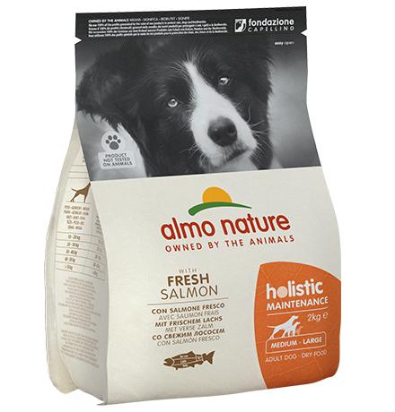 Almo Nature Holistic Medium Salmon / Сухой корм Алмо Натюр Холистик для взрослых собак Средних пород с Лососем
