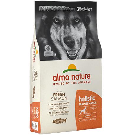 Almo Nature Holistic Large Adult Salmon / Сухой корм Алмо Натюр Холистик для взрослых собак Крупных пород с Лососем