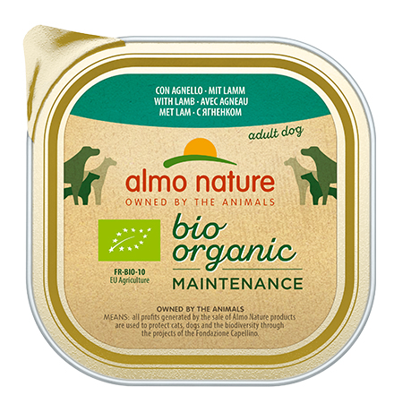 Almo Nature Daily Menu Bio Pate Lamb / Паштет Алмо Натюр для собак Био-меню с Ягненком (цена за упаковку)