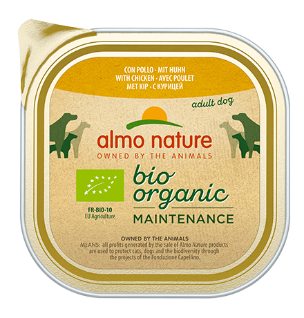 Almo Nature Daily Menu Bio Pate Chicken / Паштет Алмо Натюр для собак Био-меню с Курицей (цена за упаковку)