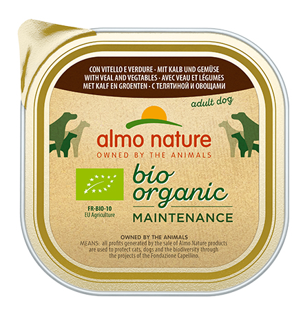Almo Nature Daily Menu Bio Pate Veal & Vegetables / Паштет Алмо Натюр для собак Био-меню с Телятиной и овощами (цена за упаковку)