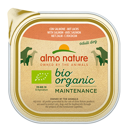 Almo Nature Daily Menu Bio Pate Salmon / Паштет Алмо Натюр для собак Био-меню с Лососем (цена за упаковку)