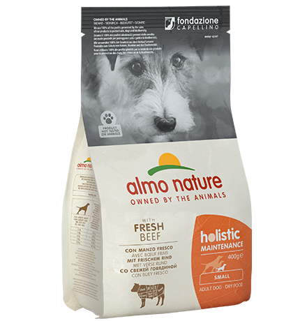 Almo Nature Holistic Small Beef and Rice / Сухой корм Алмо Натюр Холистик для взрослых собак Малых пород с Говядиной