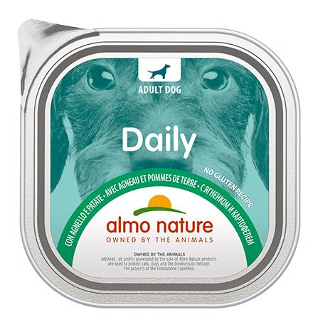 Almo Nature Daily Menu Lamb with potatoes / Консервы Алмо Натюр для собак Меню с Ягненком и картофелем (цена за упаковку)