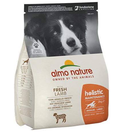 Almo Nature Holistic Medium Lamb / Сухой корм Алмо Натюр Холистик для взрослых собак Средних пород с Ягненком