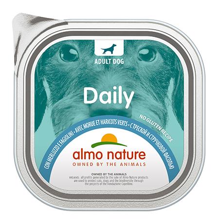 Almo Nature Daily Menu Cod and Green Beans / Консервы Алмо Натюр для собак Меню с Треской и стручковой фасолью (цена за упаковку)