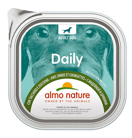 Almo Nature Daily Menu Turkey and Courgette / Консервы Алмо Натюр для собак Меню с Индейкой и цуккини (цена за упаковку)