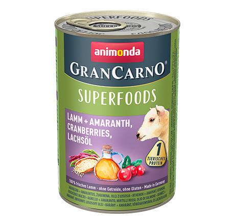 Animonda GranCarno Superfoods Rind + Rote Bete / Консервы Анимонда для взрослых собак с Говядиной + свекла ежевика одуванчик (цена за упаковку)
