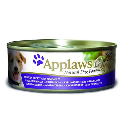 Applaws Chicken breast & Vegetables / Консервы Эплоус для собак Курица овощи рис (цена за упаковку)