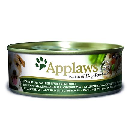 Applaws Chicken breast Beef Liver & Vegetables / Консервы Эплоус для собак Курица Говядина Печень овощи (цена за упаковку)