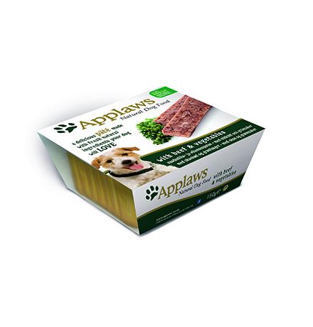 Applaws Pate Beef & Vegetables / Паштет Эплоус для собак Говядина овощи (цена за упаковку)