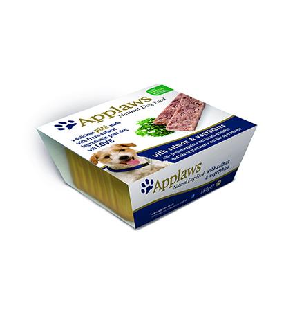 Applaws Pate Salmon & Vegetables / Паштет Эплоус для собак Лосось овощи (цена за упаковку)