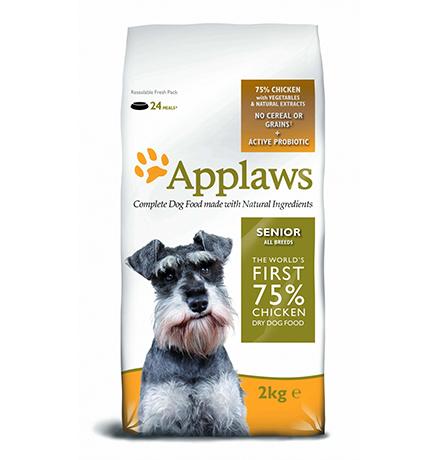 Applaws Senior All Breeds No Grain Chicken Vegetables / Сухой Беззерновой корм Эплоус для Пожилых собак Курица овощи