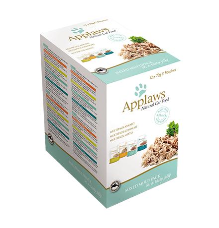 Applaws Mixed Multipack jelly / Паучи Эплоус для кошек Радуга вкусов (цена за упаковку)