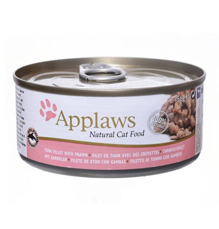 Applaws Tuna Fillet Prawn / Консервы Эплоус для кошек филе Тунца Креветки (цена за упаковку)