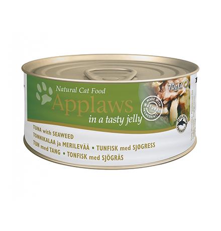 Applaws Tuna Fillet Seaweed / Консервы Эплоус для кошек филе Тунца Морская капуста (цена за упаковку)