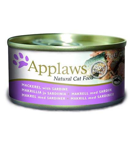 Applaws Mackerel Sardine / Консервы Эплоус для кошек Скумбрия Сардинки (цена за упаковку)