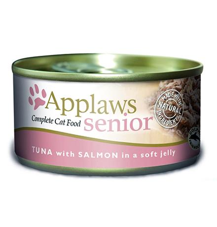 Applaws Tuna Salmon Pouch in jelly / Паучи Эплоус для Пожилых кошек Тунец Лосось (цена за упаковку)