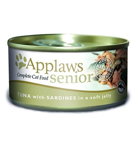 Applaws Tuna Sardine Pouch in Jelly / Паучи Эплоус для Пожилых кошек Тунец Сардинки (цена за упаковку)