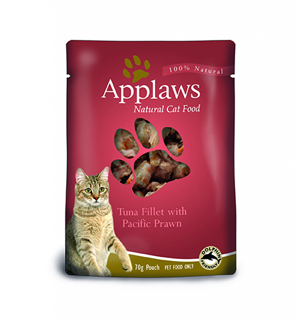 Applaws Tuna & Pacifc Prawn / Паучи Эплоус для кошек Тунец Королевские креветки (цена за упаковку)
