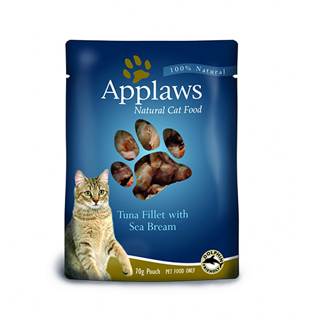 Applaws Tuna & Seabream / Паучи Эплоус для кошек Тунец Морской окунь (цена за упаковку)