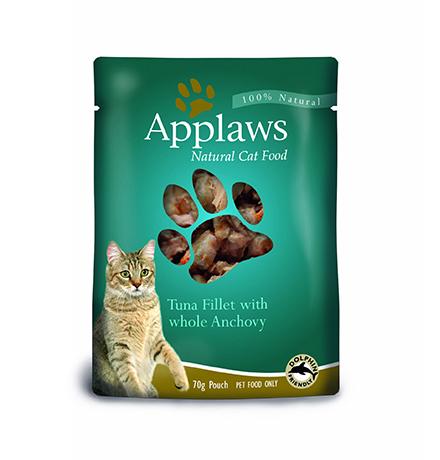 Applaws Tuna & Anchovy / Паучи Эплоус для кошек Тунец Анчоус (цена за упаковку)