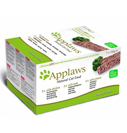 Applaws Pate Country fresh Chicken Lamb Salmon / Консервы Эплоус для кошек Ассорти (цена за упаковку)