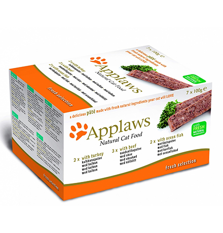 Applaws Pate Fresh Selection Turkey Beef Ocean / Консервы Эплоус для Кошек Ассорти (цена за упаковку)