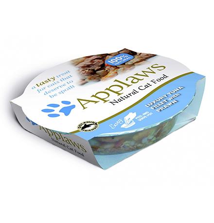 Applaws Luxury Tuna Fillet Prawn / Консервы Эплоус для кошек Нежное филе Тунца Креветки (цена за упаковку)